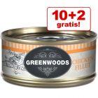 10 + 2 gratis! 12 x 70 g Greenwoods Adult