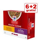 6 + 2 gratis! 8 x 80 g Hill's Science Plan Canine Adult Healthy Cuisine