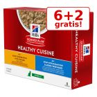 6+ 2 gratis! 8 x 80 g Hill's Science Plan Healthy Cuisine