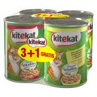 3 + 1 gratis! 4 x 400 g Kitekat Hrană umedă