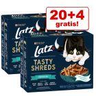 "20 + 4 gratis! 24 x 80 g Latz ""Tasty Shreds"" Pouch"
