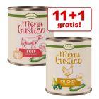 11 + 1 gratis! 12 x 800 g Lukullus Menu Gustico  - Senza cereali - NUOVO!