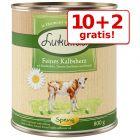 10 + 2 gratis! 12 x 800 g Lukullus Naturkost Adult & Frühlungsmenü