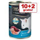 10 + 2 gratis! 12 x 400 g Miamor Feine Beute