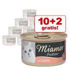 10 + 2 gratis! 12 x 85 g Miamor Pastete