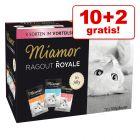 10 + 2 gratis! 12 x 100 g Miamor Ragù Royal misto