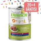 20 + 4 gratis! 24 x 400 g Natural Trainer Sensitive