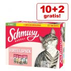 10 + 2 gratis! 12 x 100 g Pacco misto Schmusy Ragout