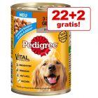 22 + 2 gratis! 24 x 400 g Pedigree Conserve