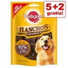 5 + 2 gratis!  7 x 70 g Pedigree Ranchos Hundesnacks 490 g