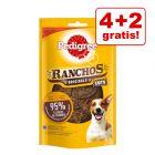 4 + 2 gratis! 6 x 65 g Pedigree Ranchos Original Cuts