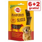 6 + 2 gratis! 8 x 60 g Pedigree Ranchos Slices Hundesnacks
