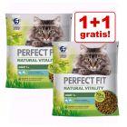 1 + 1 gratis! 2 x 650 g Perfect Fit Natural Vitality Adult 1+ Katzenfutter