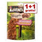 1 + 1 gratis! 2 x 300 g Purina AdVENTuROS Nuggets