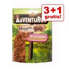 3 + 1 gratis! 4 x 300 g Purina AdVENTuROS Nuggets