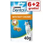 6 + 2 gratis! 8 x 40 g Purina Dentalife Cat Pollo