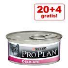 20 + 4 gratis! 24 x 85 g Purina Pro Plan