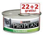 22 + 2 gratis! 24 x 85 g Purina Pro Plan