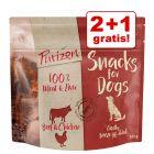 2 + 1 gratis! 3 x 100 g Purizon Snack senza cereali per cani