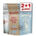 2 + 1 gratis! 3 x 40 g Purizon Snacks für Katzen
