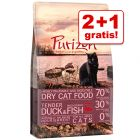2 + 1 gratis! 3 x 400 g Purizon tørrfòr til katter