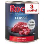 27 + 3 gratis! 30 x 800 g Rocco Classic hrană umedă câini