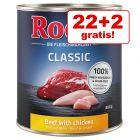 22 + 2 gratis! 24 x 800 g Rocco Classic hrană umedă câini