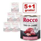5 + 1 gratis! 6 x 800 g Rocco Classic Trio di Carne