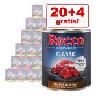 20 + 4 gratis! 24 x 800 g Rocco Classic vådfoder