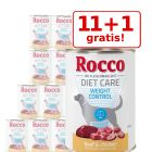 11 + 1 gratis! 12 x 400 g Rocco Diet Care