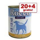 20 + 4 gratis! 24 x 800 g Rocco Sensible