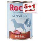 5 + 1 gratis! 6 x 400 g Rocco Sensitive