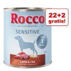 22 + 2 gratis! 24 x 800 g Rocco Sensitive conserve câini