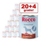20 + 4 gratis! 24 x 800 g Rocco Sensitive Hondenvoer
