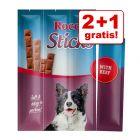 2 + 1 gratis! 3 x 120 g Rocco Sticks med Fjerkræ eller Okse