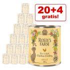 20 + 4 gratis! 24 x 800 g Rosie's Farm Adult 19,2 kg