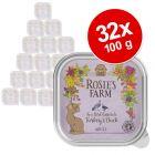 27 + 5 gratis! 32 x 100 g Rosie's Farm 3,2 kg