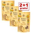 2 + 1 gratis! 3 x 50 / 70 g Rosie's Farm snacks