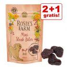 "2 + 1 gratis! 3 x 70 g Rosie's Farm Snacks ""Mini Steak Bites"""