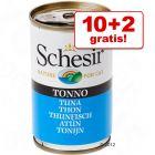 10 + 2 gratis! 12 x 140 g Schesir in Gelatina