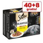 40 + 8 gratis! 48 x 85 g Sheba Katzen Nassfutter 4,08 kg