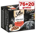 76 + 20 gratis! 96 x 85 g Sheba Katzenfutter