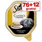 76+12  gratis! 88 x 85 g Sheba Schale Katzenfutter