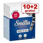 10 + 2 gratis! 12 x 370 / 380 g Smilla Bucățele  în sos sau gelatină
