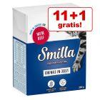 11 + 1 gratis! 12 x 370 / 380 g Smilla bucăți în sos/gelatină