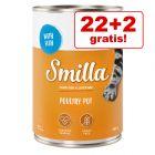22 + 2 gratis! 24 x 400 g Smilla Delizie al Pollo Alimento umido per gatti