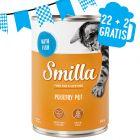 22 + 2 gratis! 24 x 400 g Smilla Delizie Alimento umido per gatti