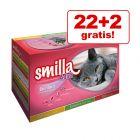 22 + 2 gratis! 24 x 85 g Smilla Sterilised Mixpack Plicuri
