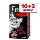 10 + 2 gratis! 12 x 85 g Tigeria