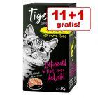 11 + 1 gratis! 12 x 85 g Tigeria  hrană umedă pisici